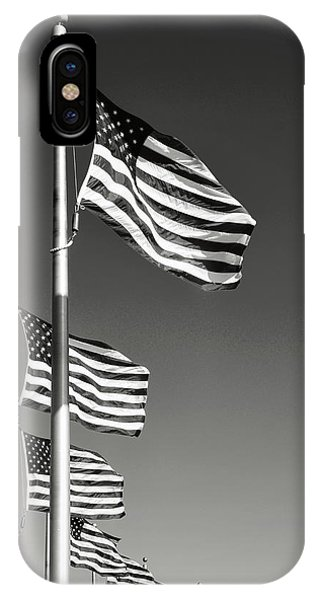 American Flag Waving In The Wind IPhone Case
