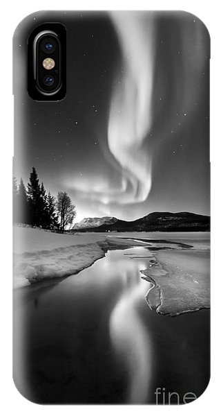 Reflection iPhone Case - Aurora Borealis Over Sandvannet Lake by Arild Heitmann