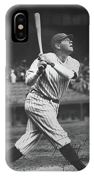 Baseball Bats iPhone Case - Babe Ruth  by American School