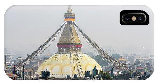 Boudhanath Stupa In Kathmandu IPhone Case