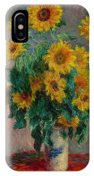 French Painter iPhone Case - Bouquet Of Sunflowers by Claude Monet