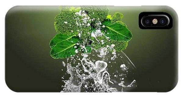 Broccoli Splash IPhone Case