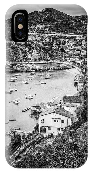 Catalina Island Avalon Bay Black And White Photo IPhone Case