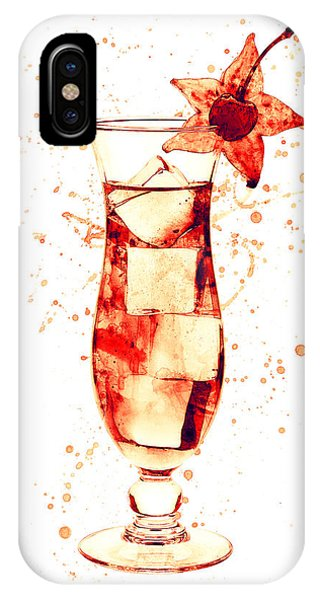 Martini iPhone Case - Cocktail Drinks Glass Watercolor by Michael Tompsett