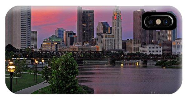 D2l37 Columbus Ohio Skyline Photo IPhone Case