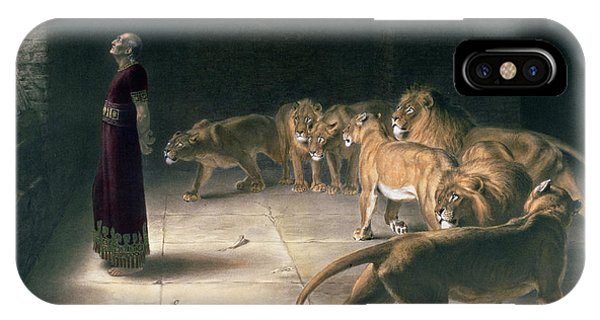 Trial iPhone Case - Daniel In The Lions Den by Briton Riviere