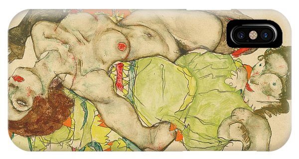 Sex And The City iPhone Case - Female Lovers by Egon Schiele