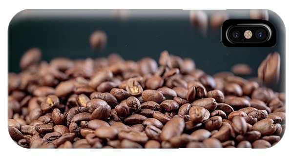 Scent iPhone Case - Fresh Roasted Coffe Beans by Nailia Schwarz