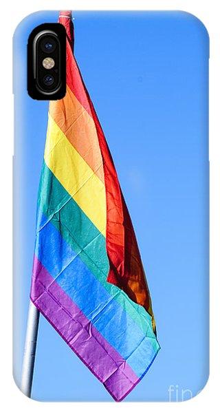 Gay Pride Flag iPhone Case - Gay Rainbow Flag  by Ilan Rosen