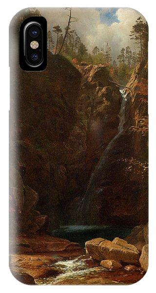 Fairy Glen iPhone Case - Glen Ellis Falls by Albert Bierstadt