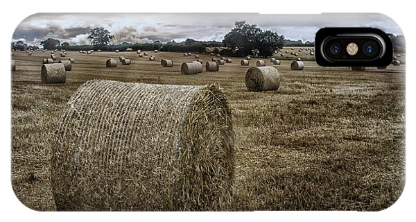 Rectangular iPhone X Case - Hay Bales by Martin Newman