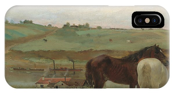 French Painter iPhone Case - Horses In A Meadow by Edgar Degas