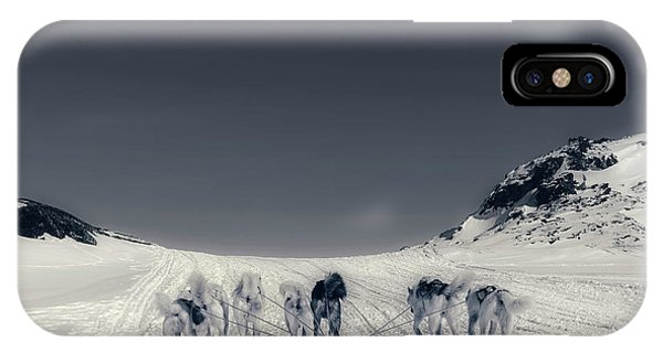 Sled Dog iPhone Case - Huskies In Ilulissat, Greenland by Joana Kruse