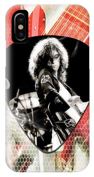 Jimmy Page Led Zeppelin Art IPhone Case