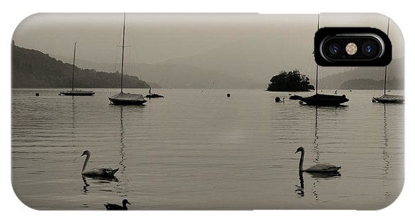 Cold Day iPhone Case - Lake Windermere by Martin Newman