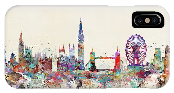 Ben iPhone Case - London City Skyline by Bri Buckley