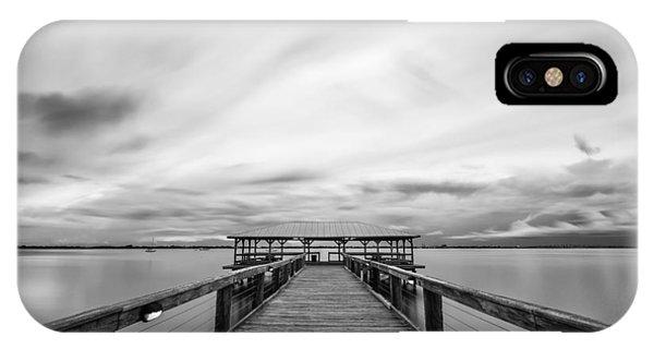 Melbourne Beach Pier Sunset IPhone Case