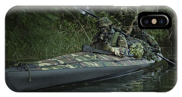 Sharpshooter iPhone Case - Navy Seals Navigate The Waters by Tom Weber