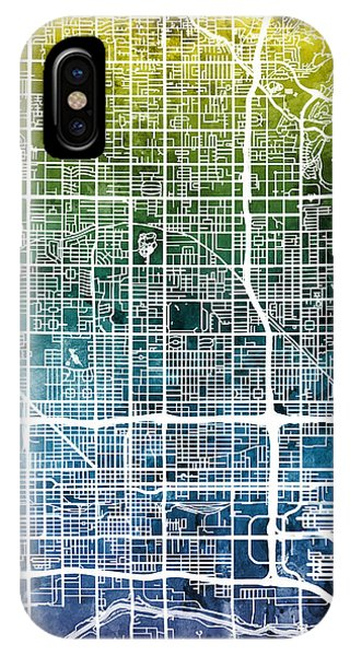 Phoenix iPhone Case - Phoenix Arizona City Map by Michael Tompsett