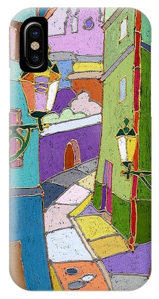 Pastel iPhone Case - Prague Old Street by Yuriy Shevchuk