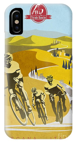 Cycling iPhone Case - Print by Sassan Filsoof