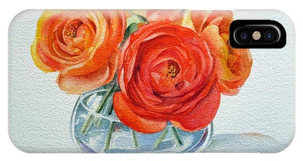Hyper Realism iPhone Case - Ranunculus by Irina Sztukowski
