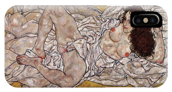 Sex And The City iPhone Case - Reclining Woman by Egon Schiele