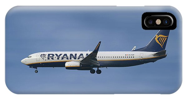 Jet iPhone X / XS Case - Ryanair Boeing 737-8as  by Smart Aviation