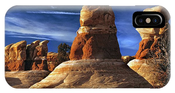 Sandstone Hoodoos In Utah Desert IPhone Case