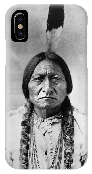 American iPhone Case - Sitting Bull 1834-1890. To License For Professional Use Visit Granger.com by Granger