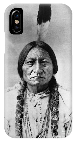 Portraits iPhone X Case - Sitting Bull 1834-1890. To License For Professional Use Visit Granger.com by Granger