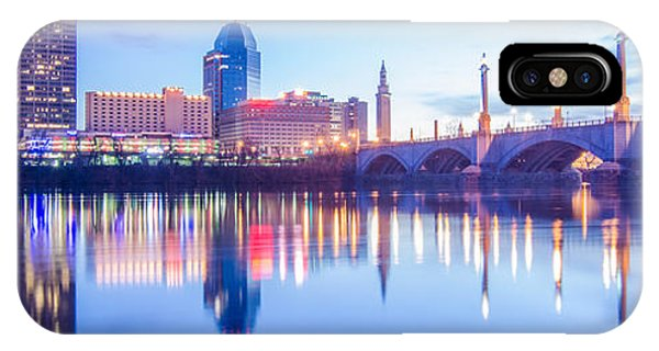 Springfield Massachusetts City Skyline Early Morning IPhone Case