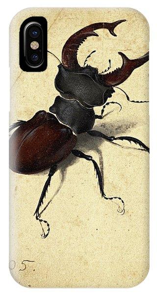 Albrecht Durer iPhone Case - Stag Beetle by Albrecht Durer