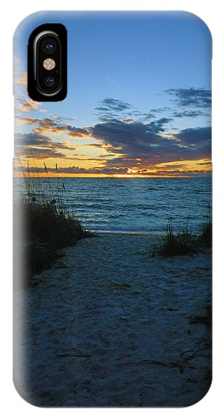 Sunset At Delnor Wiggins Pass State Park IPhone Case