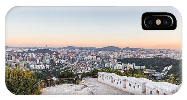Sunset Over Seoul IPhone Case