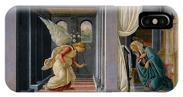 Botticelli iPhone Case - The Annunciation by Sandro Botticelli