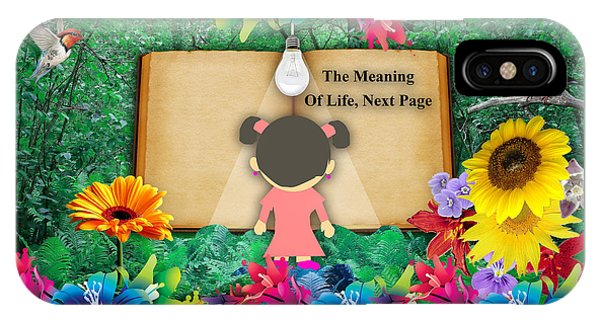 The Meaning Of Life Art IPhone Case