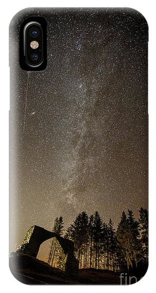 The Milky Way Over The Hafod Arch, Ceredigion Wales Uk IPhone Case
