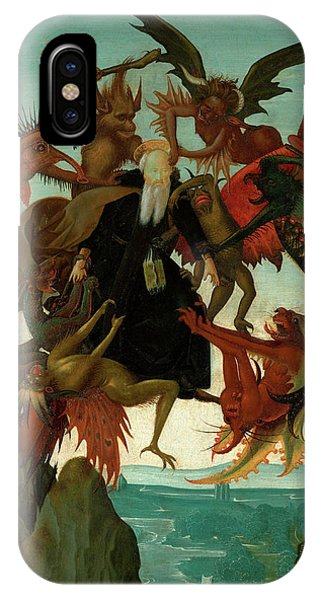 iPhone Case - The Torment Of Saint Anthony by Michelangelo Buonarroti