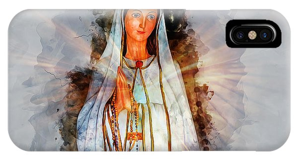Sacred iPhone Case - The Virgin Mary by Ian Mitchell