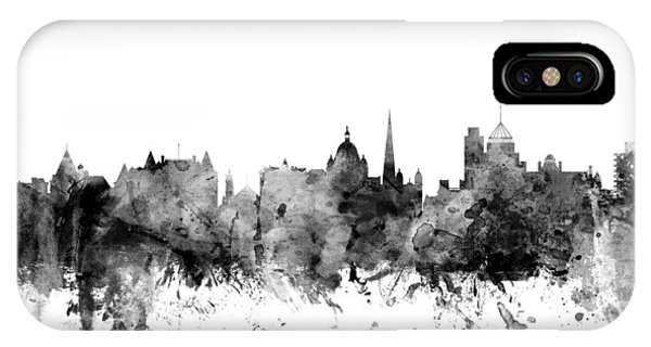 Victoria iPhone Case - Victoria Canada Skyline by Michael Tompsett