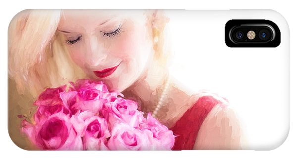 IPhone Case featuring the digital art Vintage Valentine Date by Jill Wellington