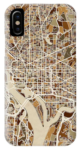 Washington Dc Street Map IPhone Case