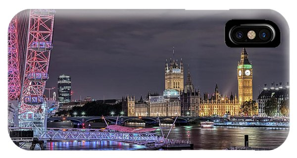 London Eye iPhone Case - Westminster - London by Joana Kruse