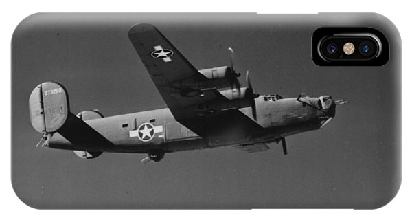 Wwii Us Aircraft In Flight IPhone Case