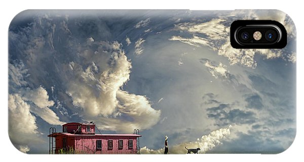 Red Caboose iPhone Case - 4238 by Peter Holme III