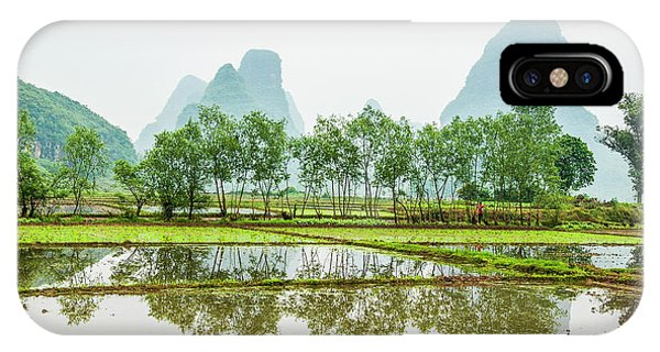 IPhone Case featuring the photograph Karst Rural Scenery In Spring by Carl Ning