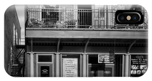 494 E Main Street In Black And White IPhone Case