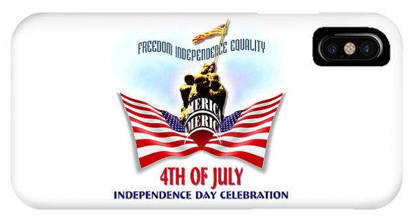 Sports Clothing iPhone Case - 4th Of July Independence Day Design by Peter Potter