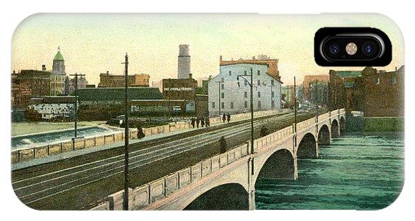 4th Street Bridge Waterloo Iowa IPhone Case